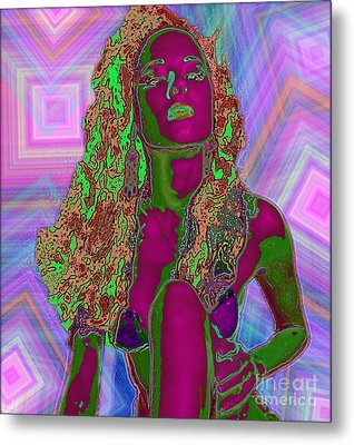 Metal Print featuring the painting Vision Of Color by Tbone Oliver