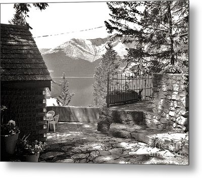 Visions From The Glass House In Boswell B.c. Metal Print by Reb Frost