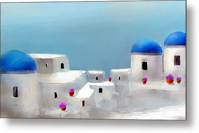 Visions Of Greece Metal Print by Larry Cirigliano