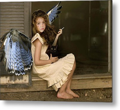 Visit From An Angel, Taking A Break From A Busy Day Of Miracles Metal Print