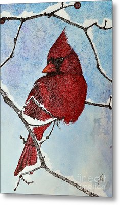 Metal Print featuring the painting Visiting Spirit by Suzette Kallen