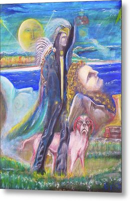 Visiting Star Beings Metal Print