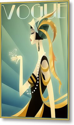 Vogue - Bird On Hand Metal Print