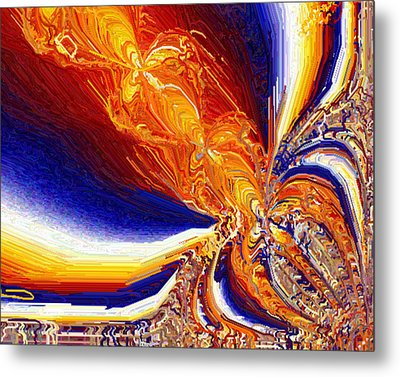 Metal Print featuring the digital art Volcanicity by Charmaine Zoe