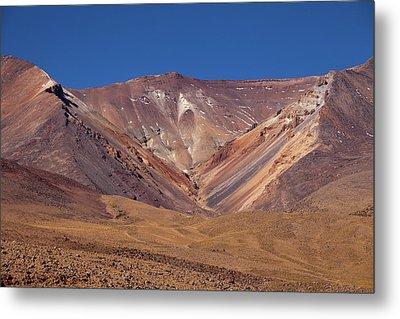 Volcano Crater In Siloli Desert Metal Print