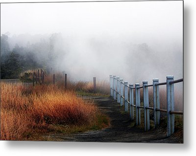 Volcano Fence Metal Print by Ty Helbach