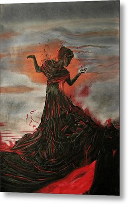 Volcano Keeper Metal Print by Melita Safran