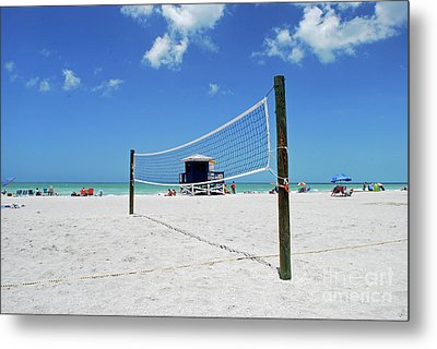 Metal Print featuring the photograph Volley Ball On The Beach by Gary Wonning