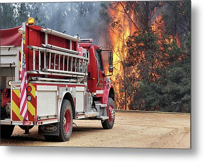 Metal Print featuring the photograph Volunteer Firefighters by JC Findley