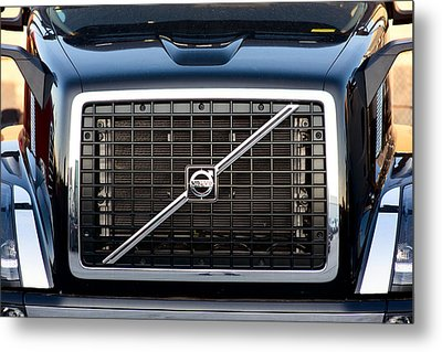 Volvo Blk And Silver Metal Print