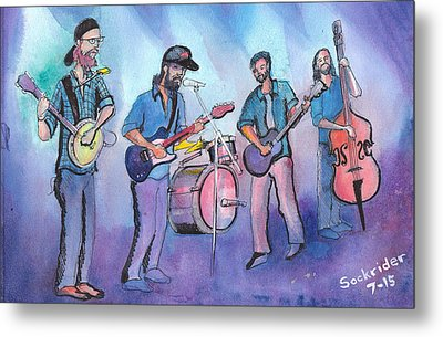 Metal Print featuring the painting Von Stomper by David Sockrider