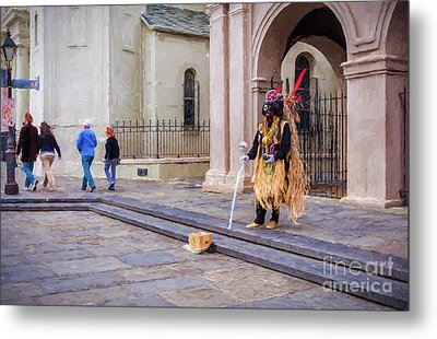 Voodoo Man In Jackson Square-digital Art Metal Print
