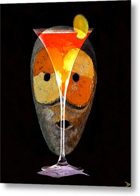 Metal Print featuring the painting Voodoo Martini by David Lee Thompson