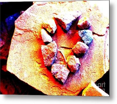 Vortex Heart Red Rocks Metal Print by Marlene Rose Besso