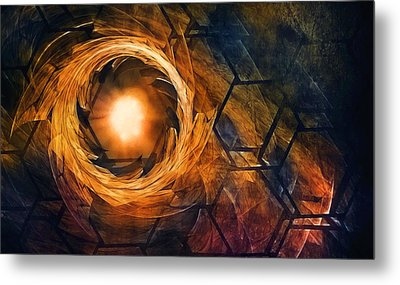 Vortex Of Fire Metal Print by Scott Norris