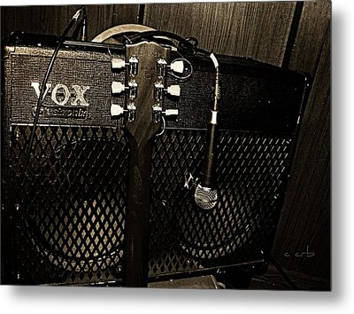 Vox Amp Metal Print by Chris Berry