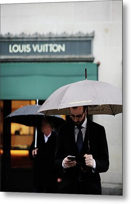 Metal Print featuring the photograph Vuitton by Empty Wall