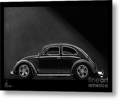 Vw Beatle Metal Print by Murphy Elliott