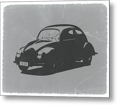Vw Beetle Metal Print by Naxart Studio