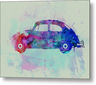 Vw Beetle Watercolor 1 Metal Print