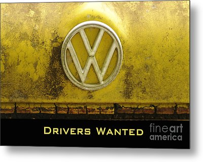 Vw Drivers Wanted Metal Print