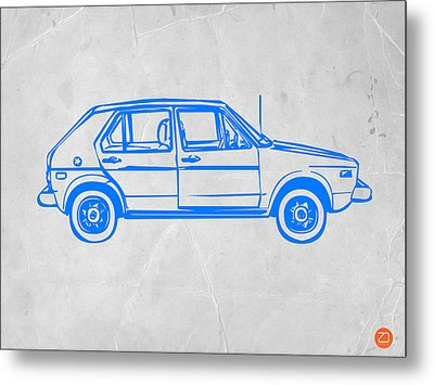 Vw Golf Metal Print by Naxart Studio