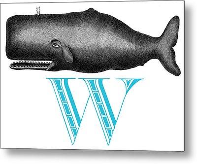 W Whale Metal Print
