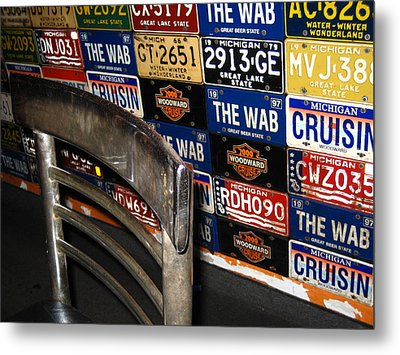 Wab Plates Metal Print by Sheryl Burns