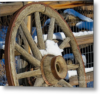 Wagon Wheel 1 Metal Print