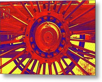 Wagon Wheel Metal Print by Cynthia Powell