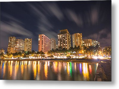 Waikiki Nights Metal Print by Brian Governale