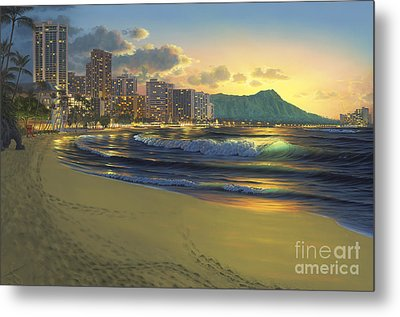 Waikiki Sunrise Metal Print