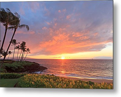 Wailea Sunset Metal Print