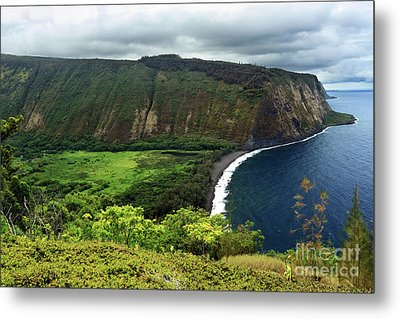 Waipio Valley Metal Print by James Eddy
