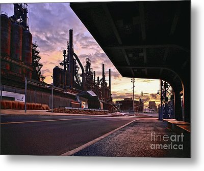 Metal Print featuring the photograph Waitin' On The Bus by DJ Florek