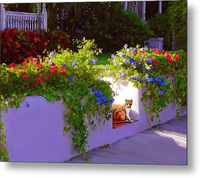 Metal Print featuring the painting Waiting For Friends by David  Van Hulst