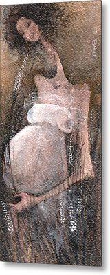 Metal Print featuring the painting Waiting For The Summer by Maya Manolova