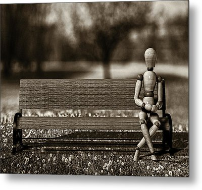 Waiting For The Taxi Metal Print by Bob Orsillo