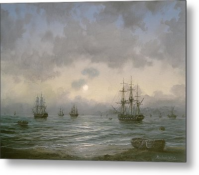 Waiting For The Tide Metal Print by Richard Willis