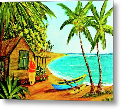 Waiting For The Waves Hawaii #387  Metal Print by Donald k Hall