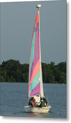 Waiting For The Wind Metal Print by Ron Read