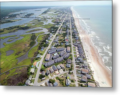 Waiting For You Topsail Island Metal Print by Betsy Knapp