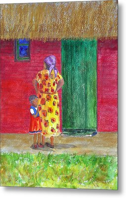 Waiting In Zimbabwe Metal Print by Patricia Beebe