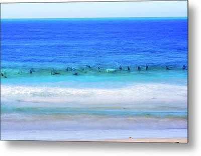 Waiting On A Wave Metal Print by Joseph S Giacalone