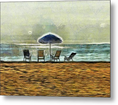 Metal Print featuring the mixed media Waiting On High Tide by Trish Tritz