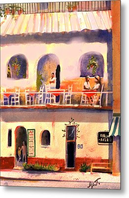Waiting Tables Metal Print by Gertrude Palmer