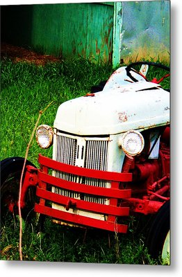 Waiting To Plow Metal Print by Beverly Hammond
