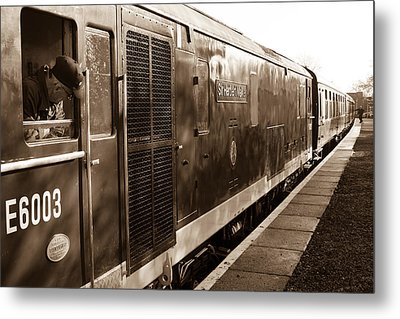 Waiting To Pull Out Of Blundson Station At Swindon And Cricklade Railway Metal Print