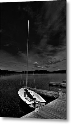 Waiting To Sail On Fourth Lake Metal Print by David Patterson