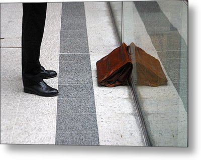 Waitng For The Office Metal Print by Jez C Self